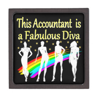 DAZZLING ACCOUNTANT DIVA DESIGN KEEPSAKE BOX