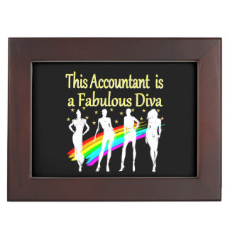 DAZZLING ACCOUNTANT DIVA DESIGN MEMORY BOX