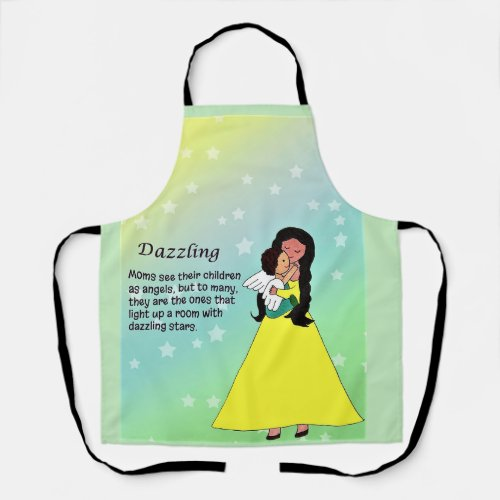 Dazzling All-Over Print Apron