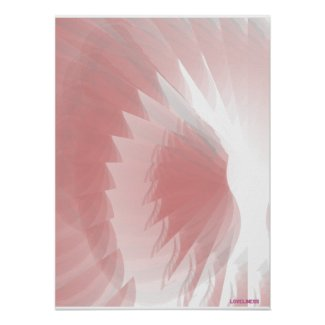 Dazzling Angelic Wings Protection Celestial Pink Poster