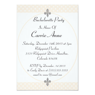 Dazzling Beige Polka Dots Bachelorette Party Card