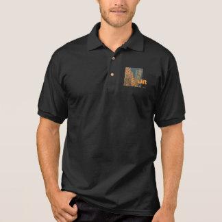 Dazzling Black Aloe JR Polo Shirt