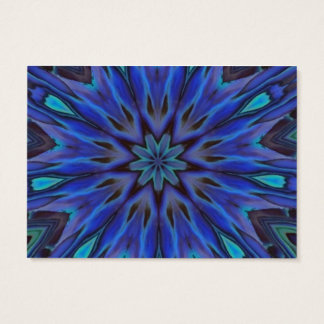 Dazzling Blue Abalone Mother of Pearl Mandala Business Card