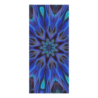 Dazzling Blue Abalone Mother of Pearl Mandala Personalized Rack Card