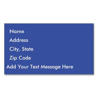 Dazzling Blue Business Card Magnet