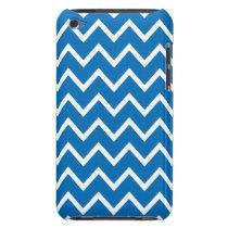 Dazzling Blue Chevron iPod Touch G4 Case
