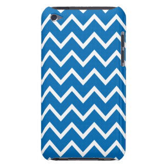 Dazzling Blue Chevron iPod Touch G4 Case Barely There iPod Case