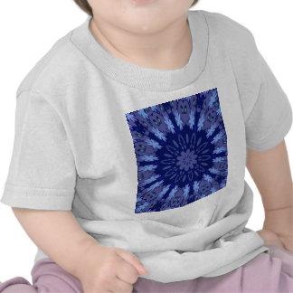 Dazzling Blue Crazy Daisy Kaleidoscope T Shirts