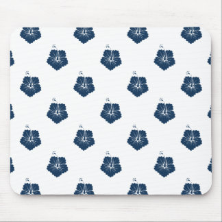 Dazzling Blue Flower Pattern 3 Mouse Pad