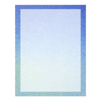 "Dazzling Blue Ombre Glitter Sand Look Dark Light 8.5"" X 11"" Flyer"