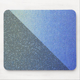Dazzling Blue Ombre Glitter Sand Look Dark Light Mouse Pad