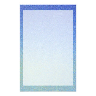 Dazzling Blue Ombre Glitter Sand Look Dark Light Stationery