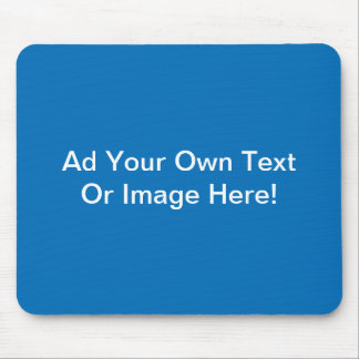 Dazzling Blue Solid Color Mouse Pad