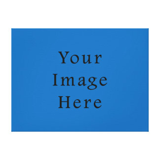 Dazzling Bright Blue Color Trend Blank Template Canvas Print
