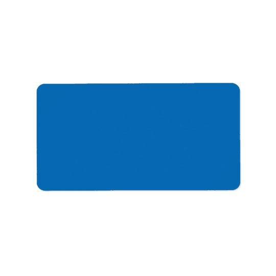 Dazzling Bright Blue Color Trend Blank Template Label