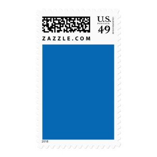 Dazzling Bright Blue Color Trend Blank Template Stamp