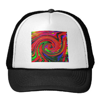 Dazzling, bright. cheerful, colorful, abstract, trucker hats