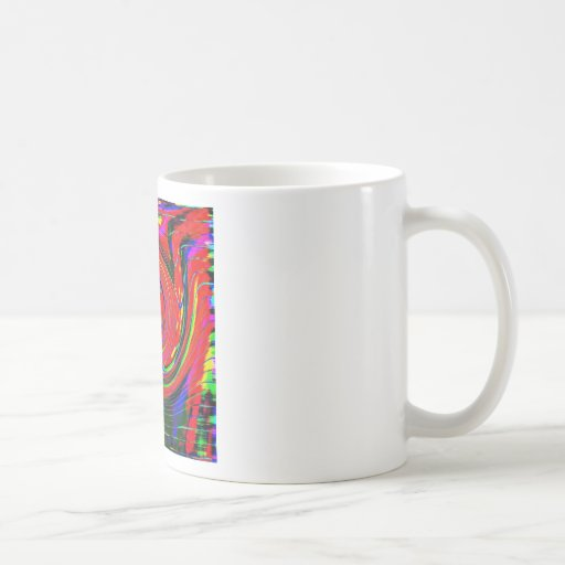 Dazzling, bright. cheerful, colorful, abstract, classic white coffee mug