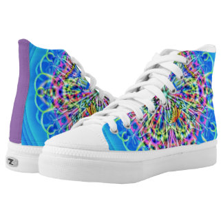 Dazzling Butterfly Kaleidoscope Fashion High tops Printed Shoes