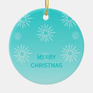 Dazzling Christmas Stars Ornament, Aqua