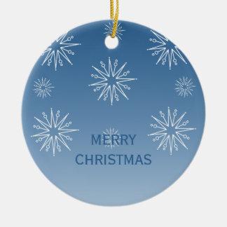 Dazzling Christmas Stars Ornament, Blue