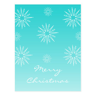 Dazzling Christmas Stars Postcard Turquoise