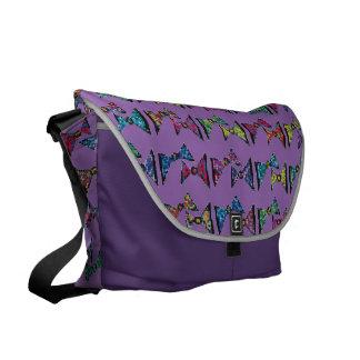 Dazzling color bows messenger bag