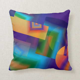 Dazzling Color Geometic American MoJo Pillows Throw Pillow