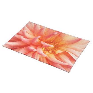 Dazzling Dahlia Flower Cloth Place Mat