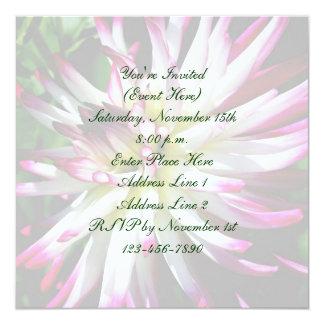 Dazzling Dahlia Flower Square Party Invite