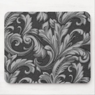Dazzling Damask Charcoal Mouse Mat