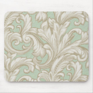 Dazzling Damask Tan and Sage Mouse Mats