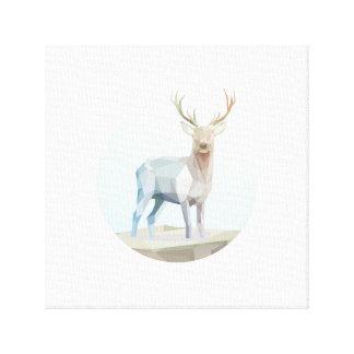Dazzling deer canvas print