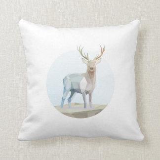 Dazzling deer throw pillow