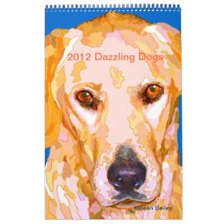 Dazzling Dogs Paintings 2012 Calendar