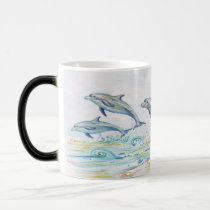 Dazzling Dolphins Morphing Mug