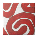 Dazzling earth red graphic ceramic tile