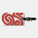 Dazzling earth red graphic tags for luggage