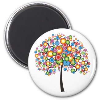 Dazzling Family Tree 2 Inch Round Magnet