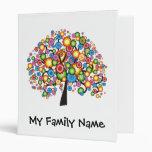 Dazzling Family Tree 3 Ring Binder