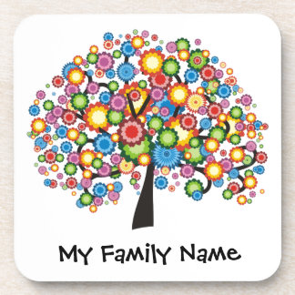 Dazzling Family Tree Drink Coaster