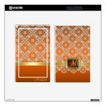 Dazzling Faux Jewel Orange Lace Kindle Skin
