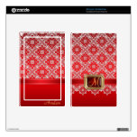 Dazzling Faux Jewel Red Lace Kindle Skin