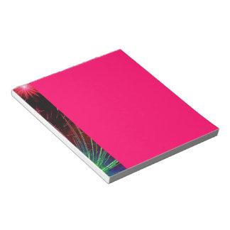 Dazzling Fireworks Notepad