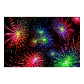 Dazzling Fireworks Posters