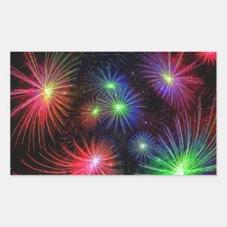 Dazzling Fireworks Rectangular Sticker