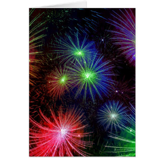 Dazzling Fireworks Stationery Note Card