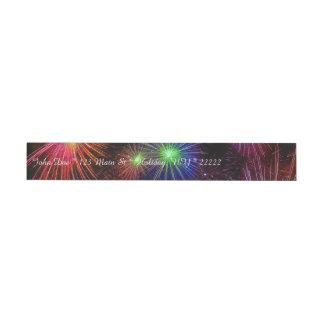 Dazzling Fireworks Wrap Around Address Label