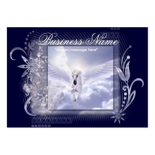 Dazzling Flying Unicorn Chubby Business Cards