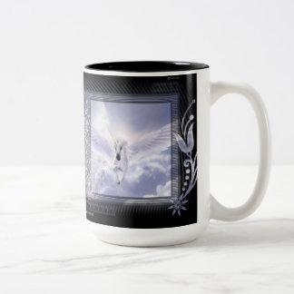 Dazzling Flying Unicorn Tag Series Two-Tone Coffee Mug
